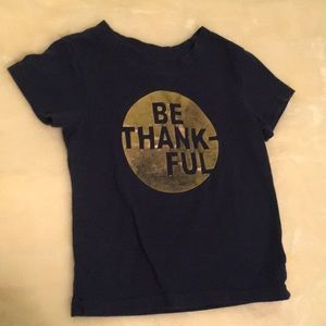 Be Thankful tee GUC 18M